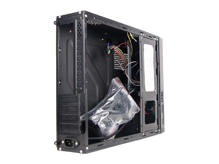 Gabinete Brazil Pc Slim Micro Itx H308 Black C/ Fonte 200w