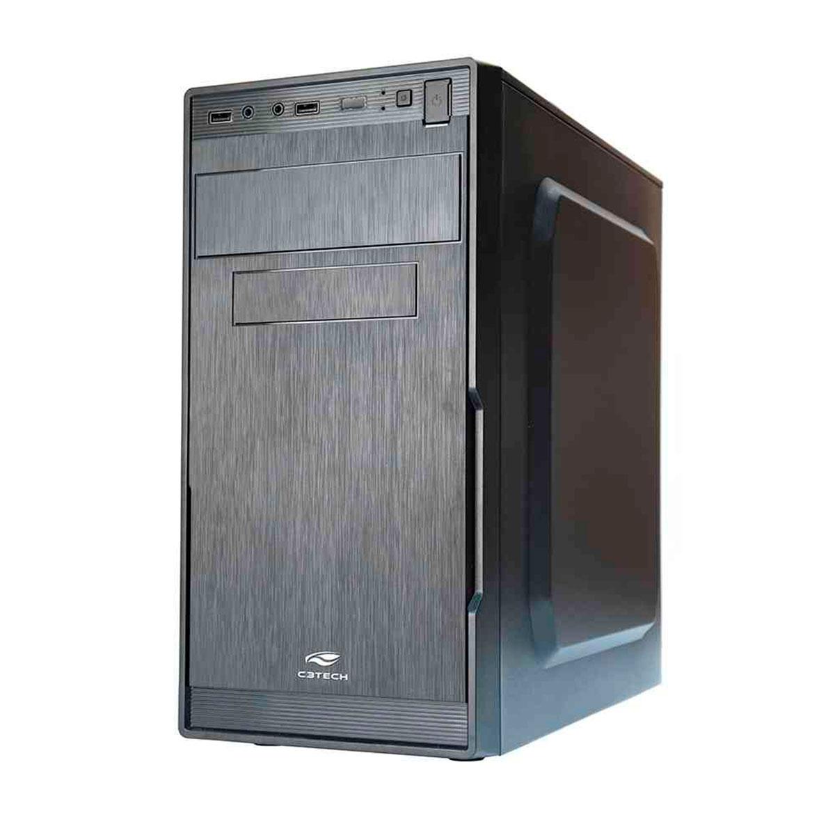 Gabinete C3Tech C3Plus MT-23V2BK Micro-ATX Fonte 200W Inclusa