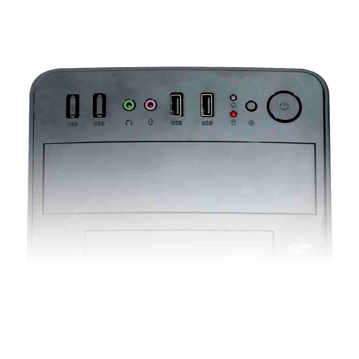 Gabinete C3Tech C3Plus MT-24V2BK Micro-ATX Fonte 200W Inclusa