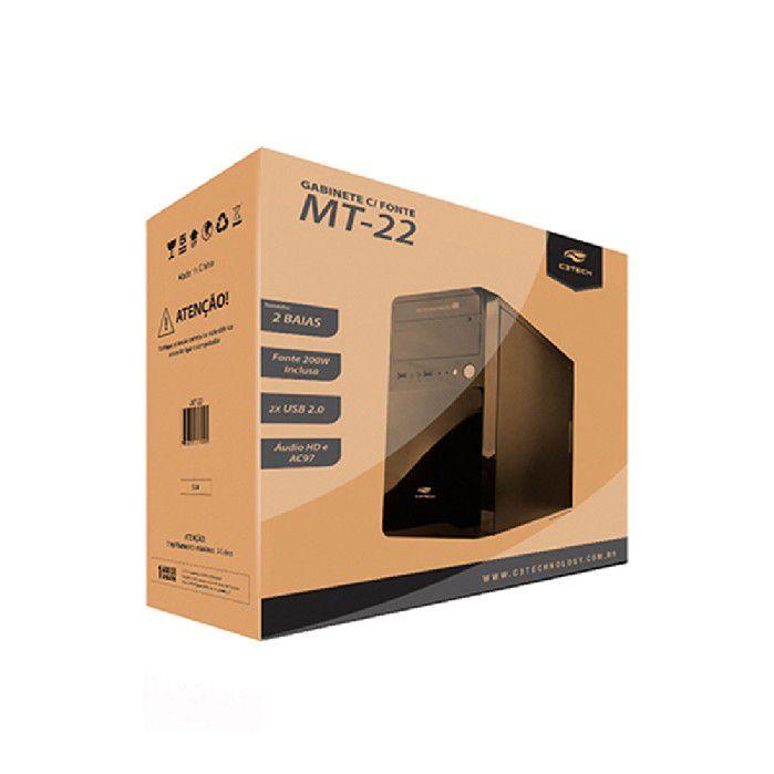 GABINETE C3TECH MICRO-ATX MT-22BK