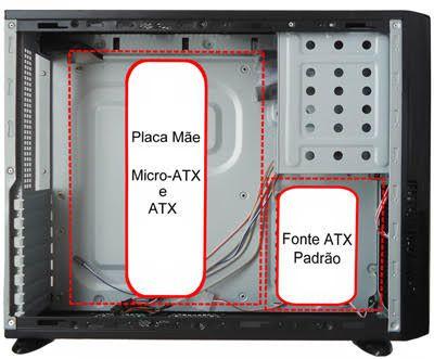 Gabinete Casemall Slim ATX S103R Case Rede S/Fonte