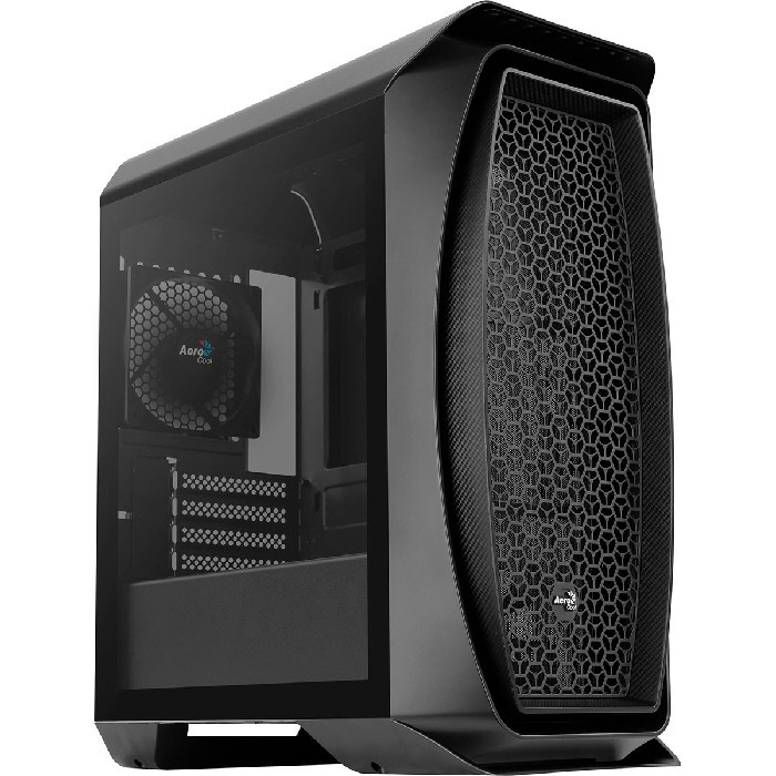 Gabinete Gamer Aerocool Aero One Mini, ATX, Com Fan, Lateral em Vidro Temperado, Preto