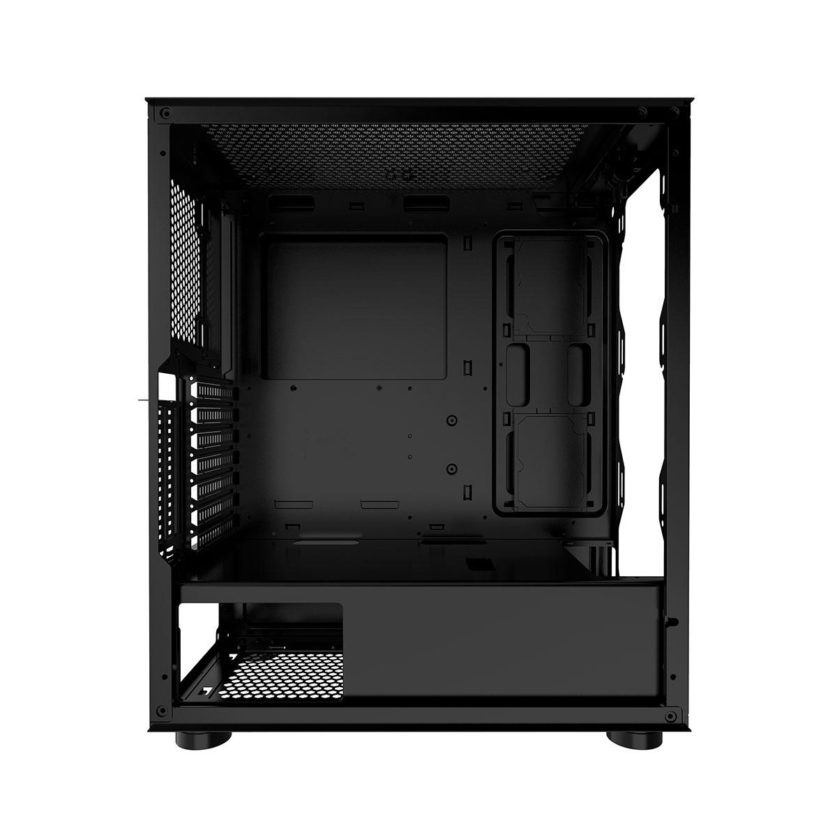 Gabinete Gamer Bluecase BG-035 Pulse Advanced, Preto, LED RGB, Lateral em Vidro Temperado, USB 3.0
