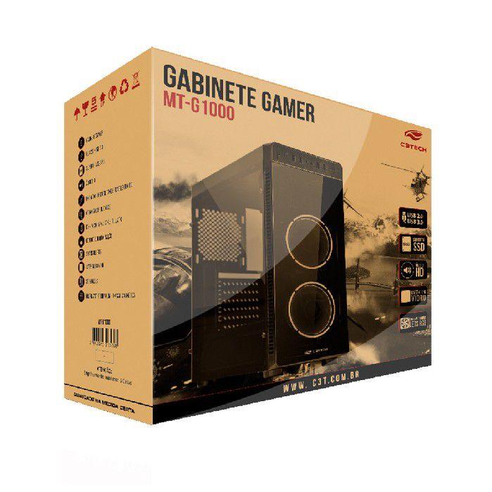 Gabinete Gamer C3tech MT-G1000BK S/ Fonte