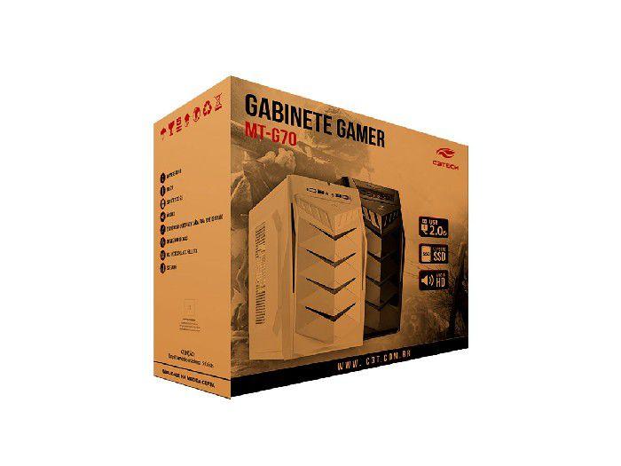 Gabinete Gamer C3tech MT-G70WH Branco