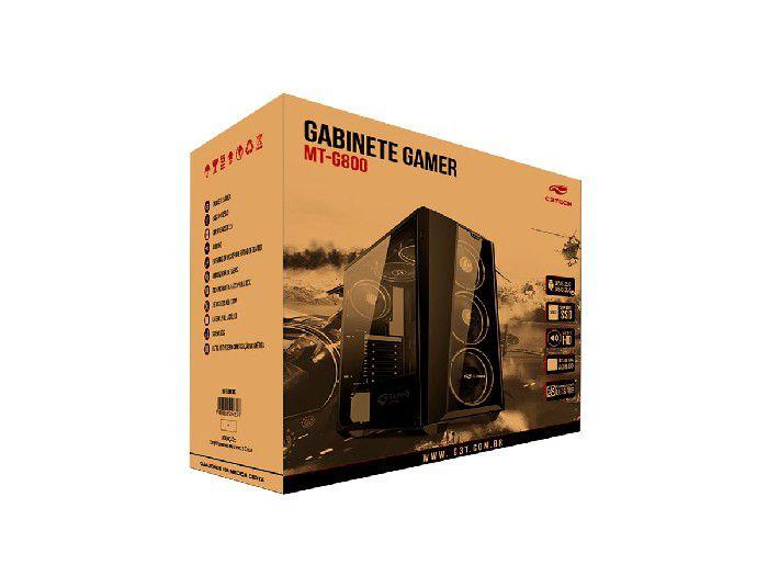 Gabinete Gamer C3tech MT-G800BK Sem Fonte
