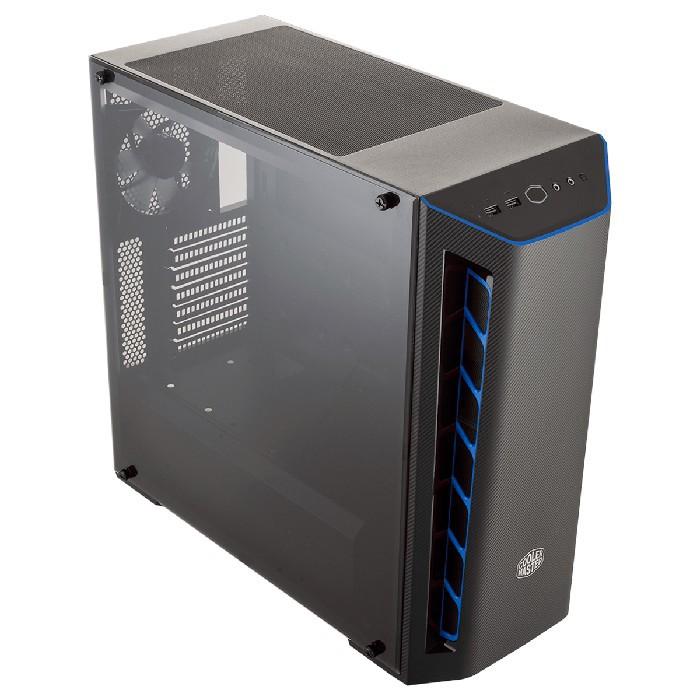 Gabinete Gamer Cooler Master MasterBox MB510L 1 Fan Preto e Azul - MCB-B510L-KANN-S03