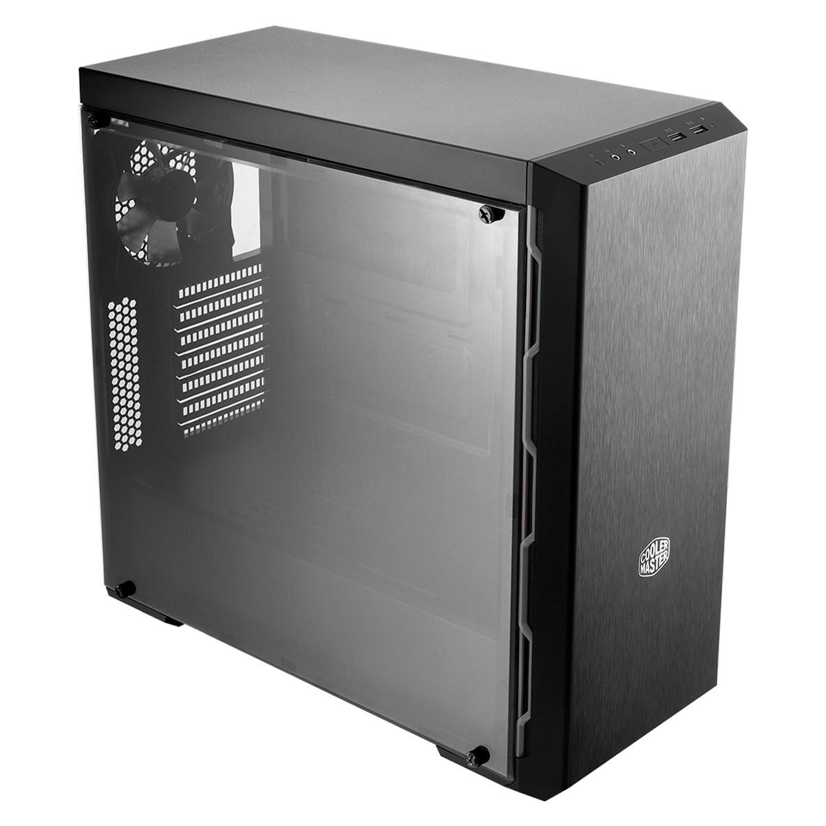 Gabinete Gamer Cooler Master MasterBox MB600L 1 Fan Preto e Gunmetal - MCB-B600L-KA5N-S02