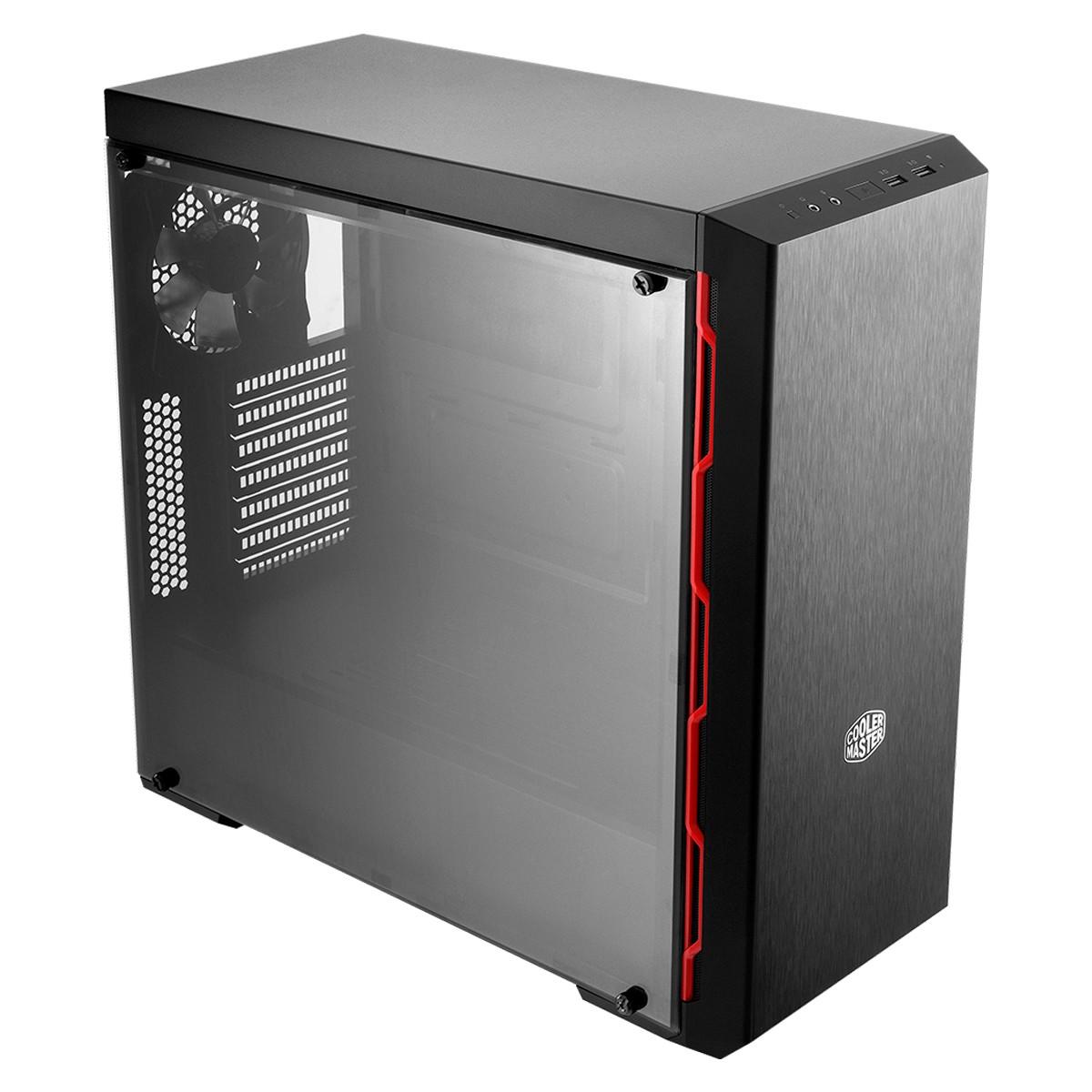 Gabinete Gamer Cooler Master MasterBox MB600L 1 Fan Preto e Vermelho - MCB-B600L-KA5N-S00