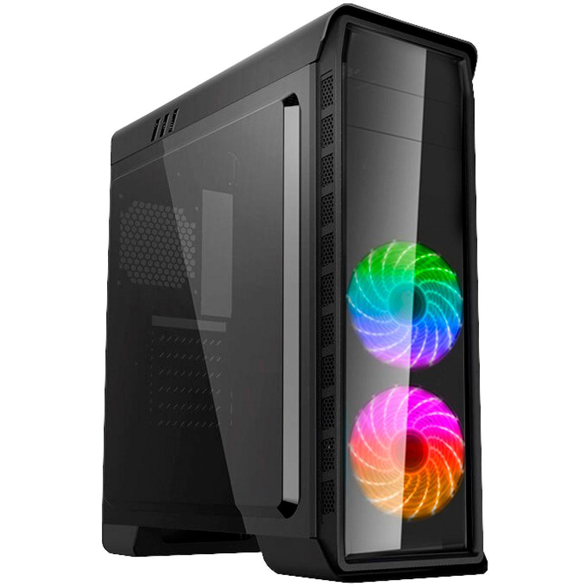 Gabinete Gamer Gamemax Elysium G503X Preto 3 Fans RGB