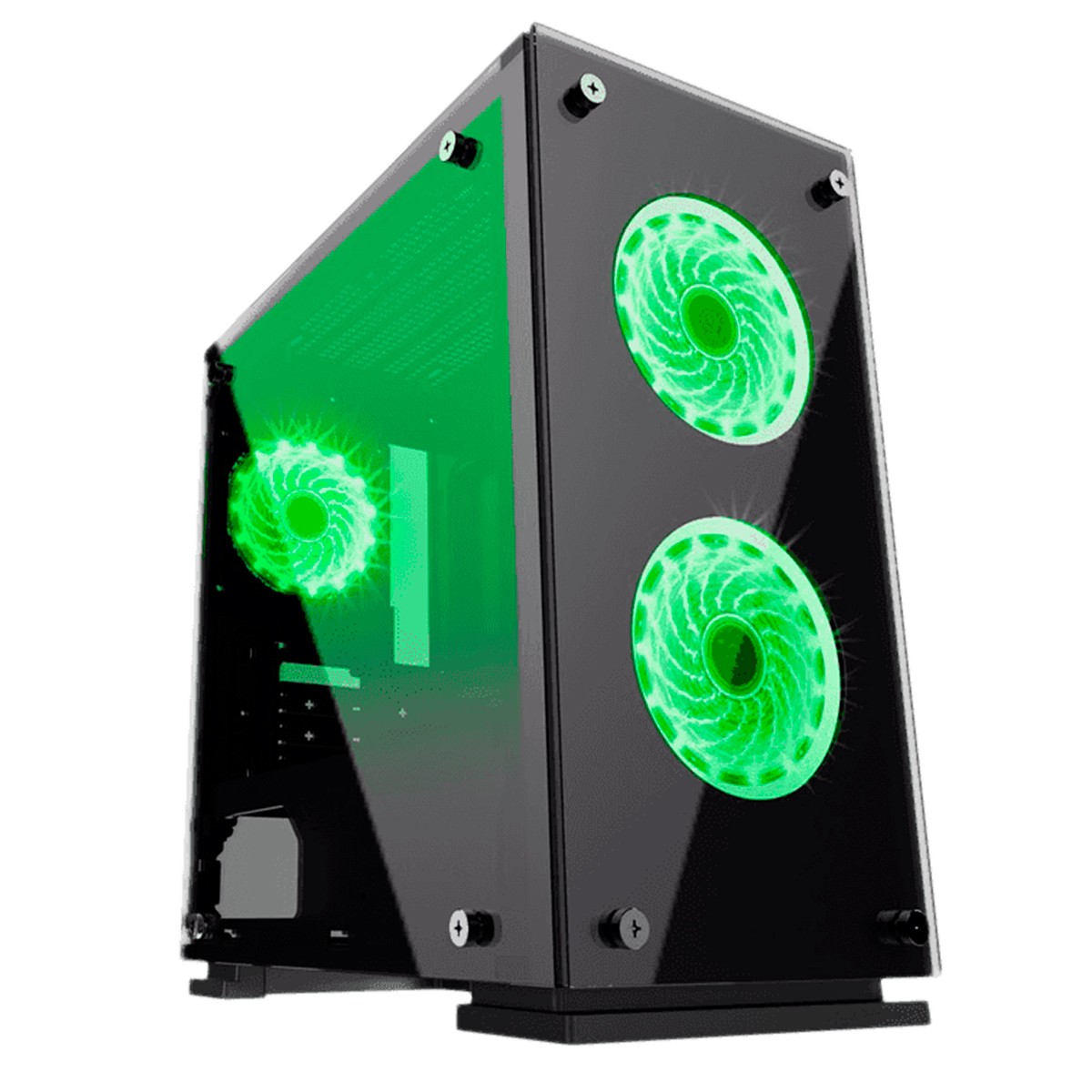 Gabinete Gamer Gamemax GMX H605-TA 3 Fans RGB Rainbow