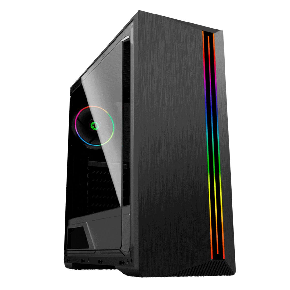 Gabinete Gamer Gamemax GMX Shine G517 RGB Rainbow