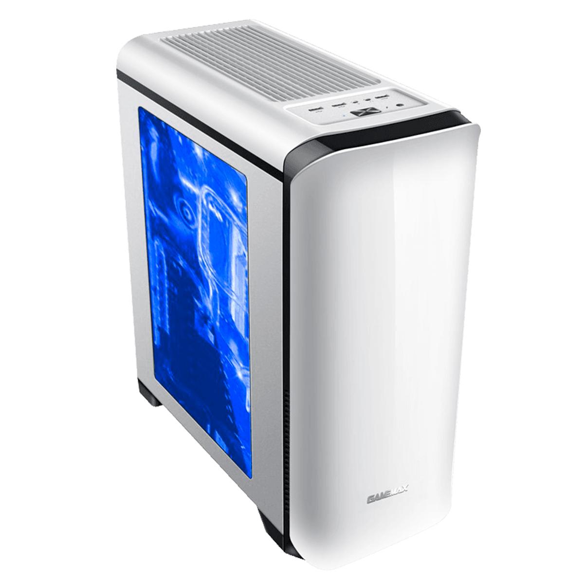 Gabinete Gamer Gamemax Hero H602-WB Branco LED Blue