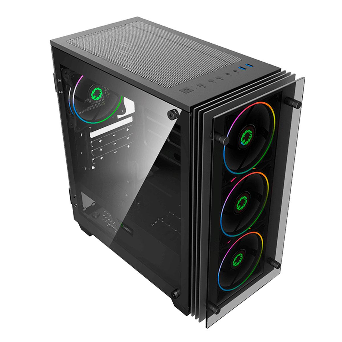 Gabinete Gamer Gamemax Mini Stratos H609 4 Fans Rainbow