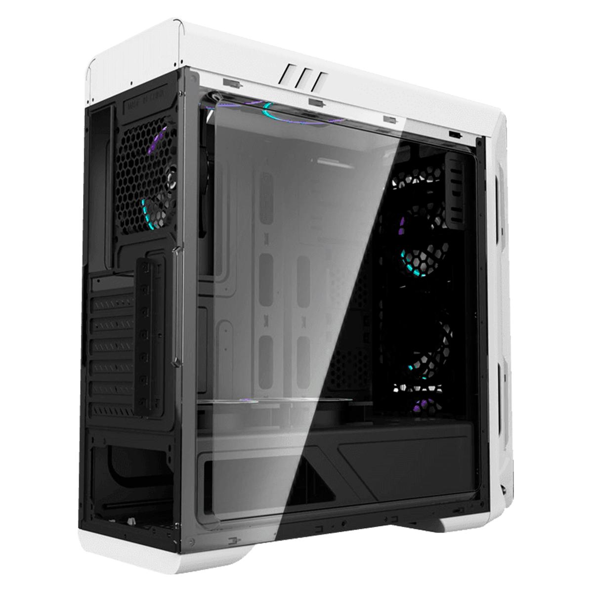 Gabinete Gamer Gamemax Optical G510-W Branco 4 Fans Rainbow