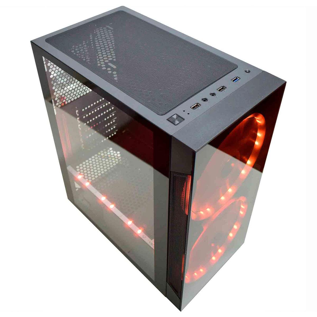 Gabinete Gamer K-MEX Anjo de Combate 2 Fan LED ARGB + Fita CG02A1RH001CB0X