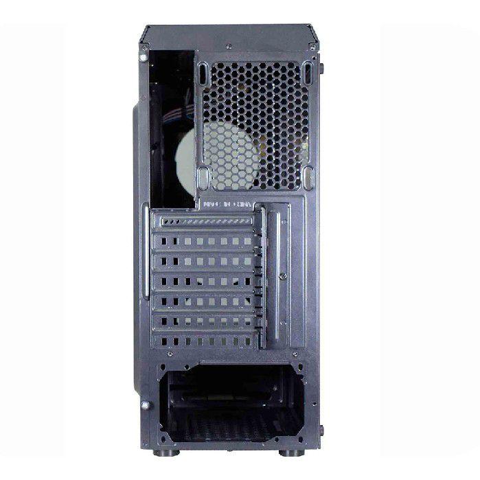 Gabinete Gamer K-mex Cg-02g8 Infinity2 Lat Full Acrilico 3fan15led Azul