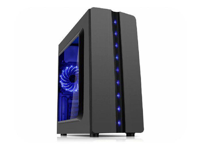 Gabinete Gamer K-mex Matrix Cg04r8 c/  Led Azul