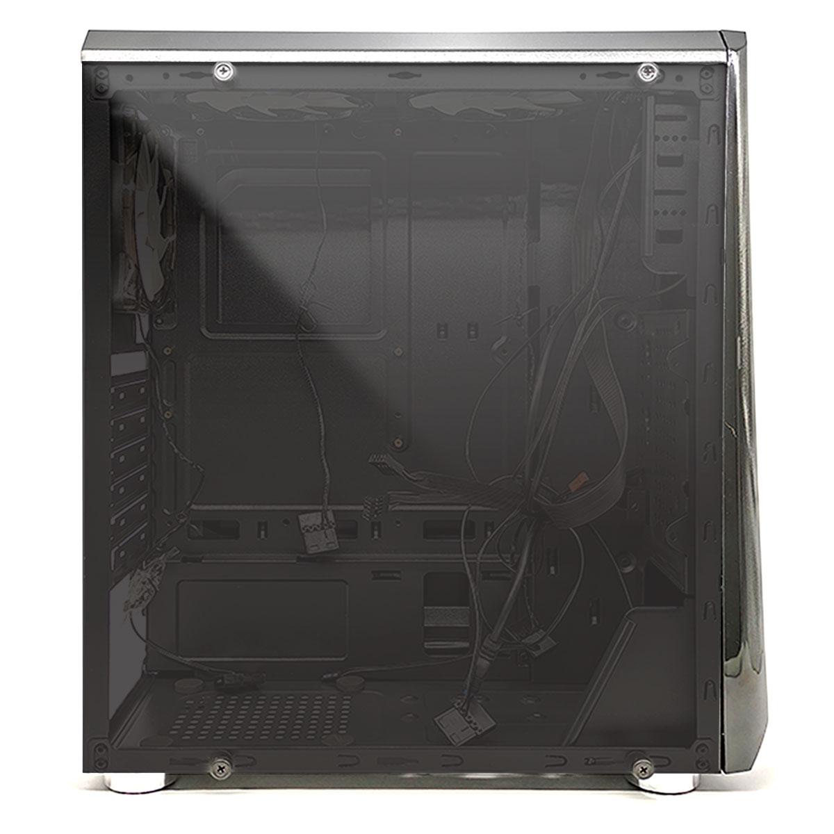 Gabinete Gamer OEX Shelter GH200, Preto, LED RGB, 3 Coolers