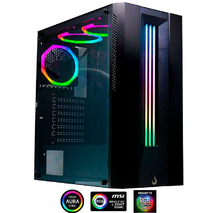 Gabinete Gamer Rise Mode Glass 03 RGB RM-CA-03-RGB