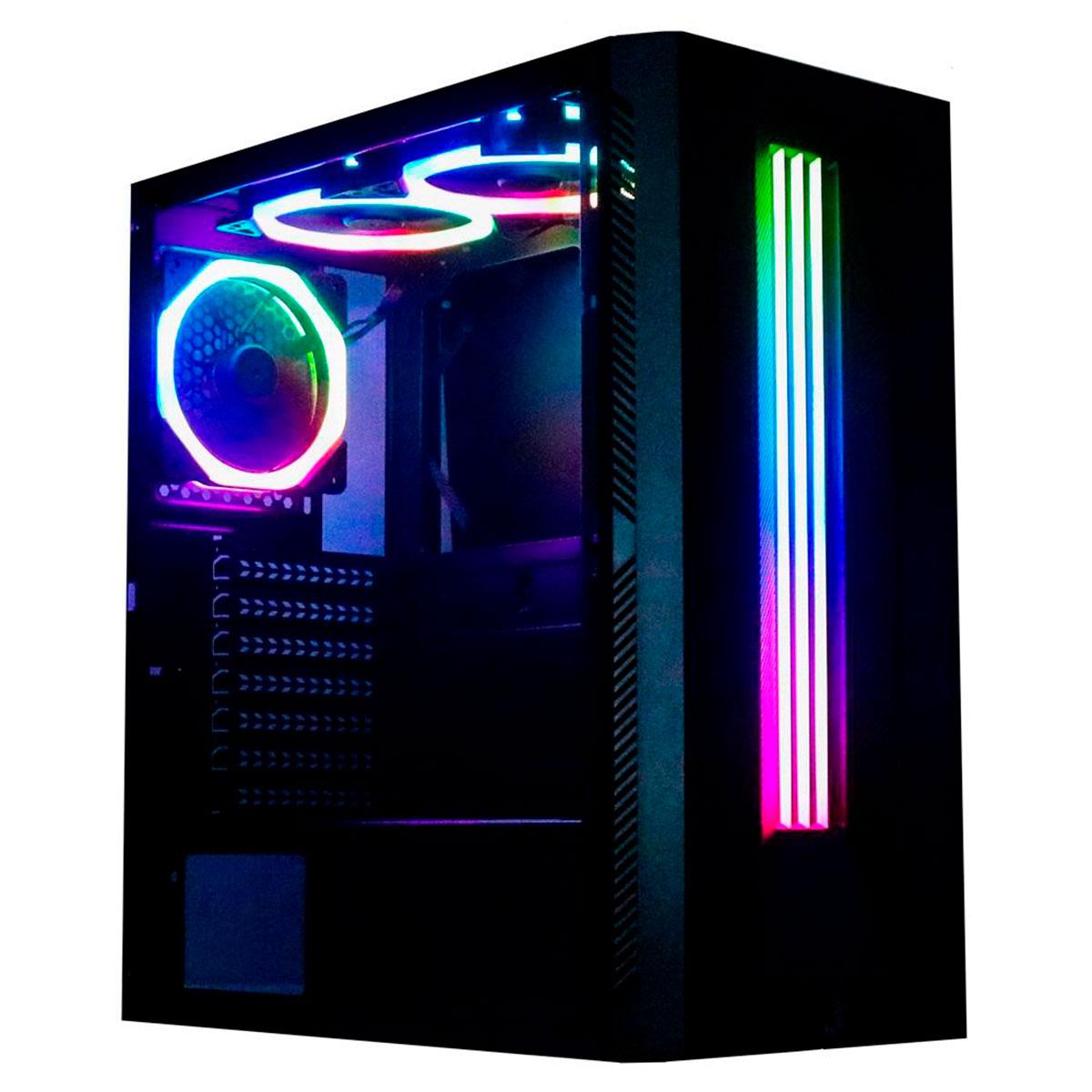 Gabinete Gamer Rise Mode Glass 03 RGB RM-CA-03-RGB