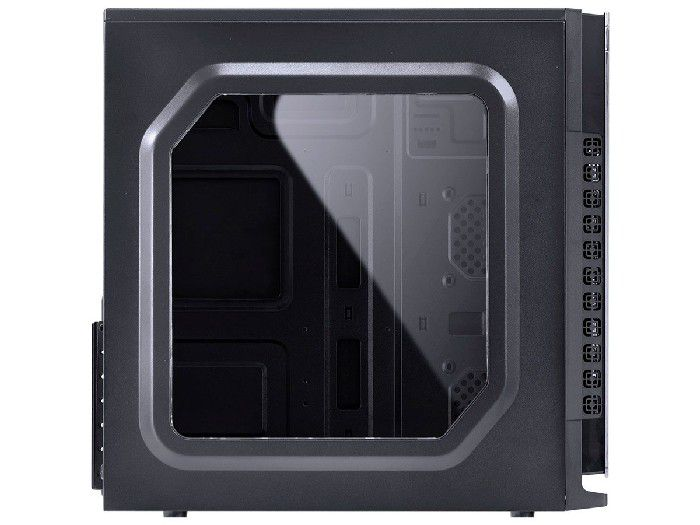 Gabinete Gamer Vinik Vx CRATER Preto C/ LED Azul 29833