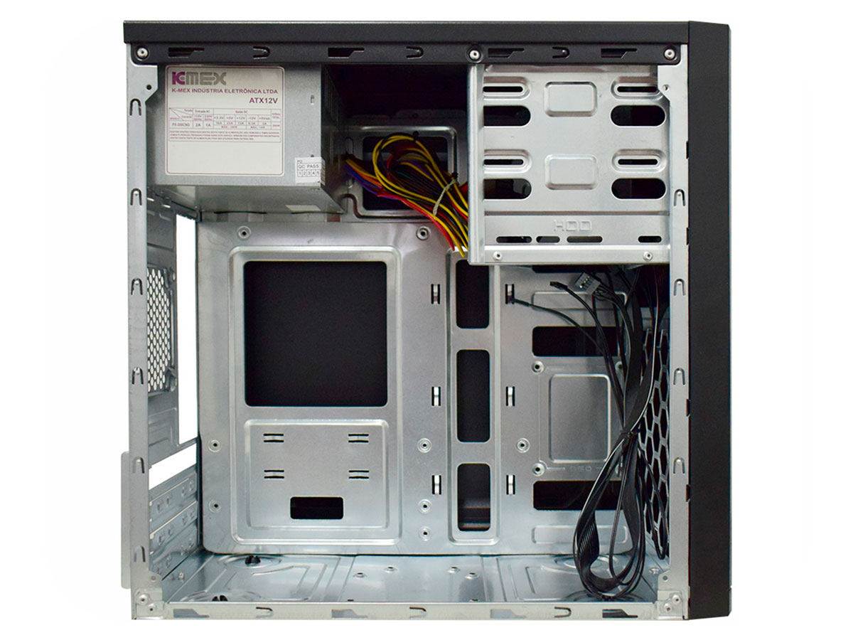 Gabinete Padrão K-mex GM-53Y1 Preto C/fonte PX300 C/2*USB + Áudio