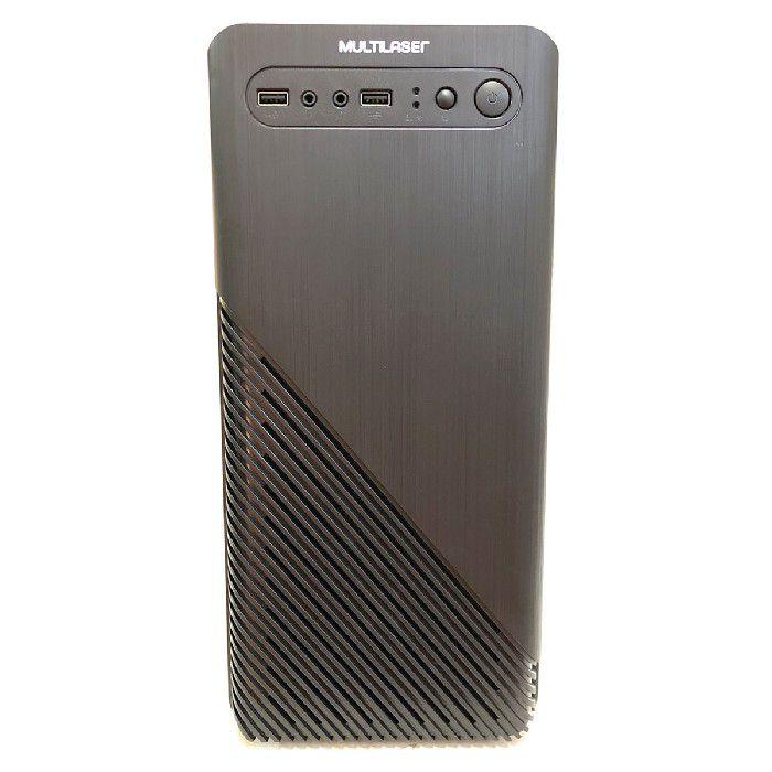 Gabinete Padrão Micro ATX Multilaser GA190 Com Fonte 200W Preto