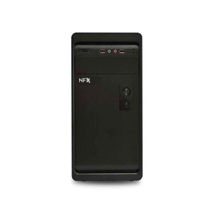 Gabinete Pc Nfx Pto 603 1-baia Ext 5.25 Hd Audio / Usb 2.0 C/fonte