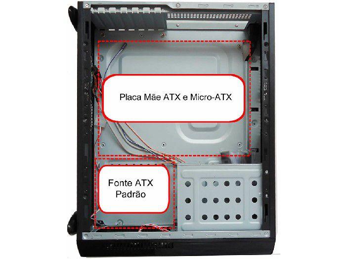 Gabinete Slim Casemall Atx S104 Prata Case Rede S/Fonte