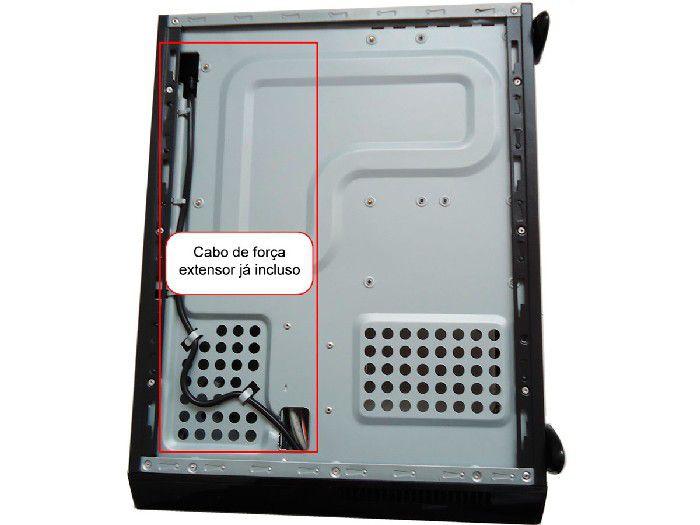 Gabinete Slim Casemall Atx S104-R Vermelhro Case Rede S/fonte