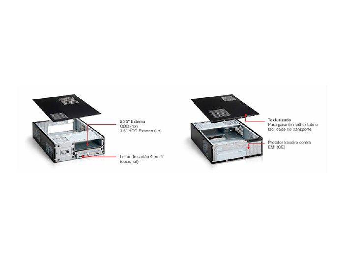 Gabinete Slim K-mex Gm-9i8a C/ fonte e cabo