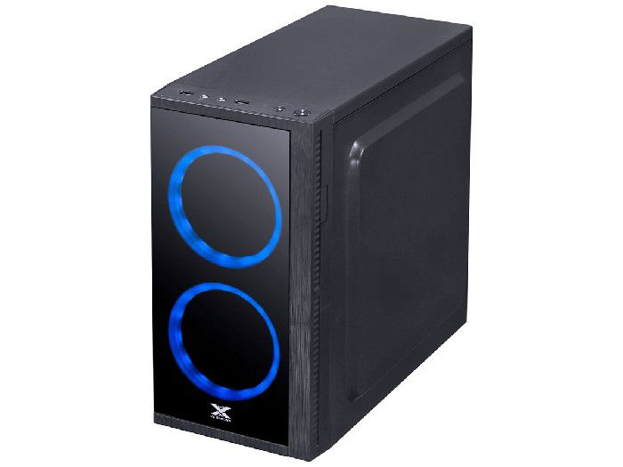 Gabinete Vinik Gamer VX ARIES 2 Fans LED Azul 30711