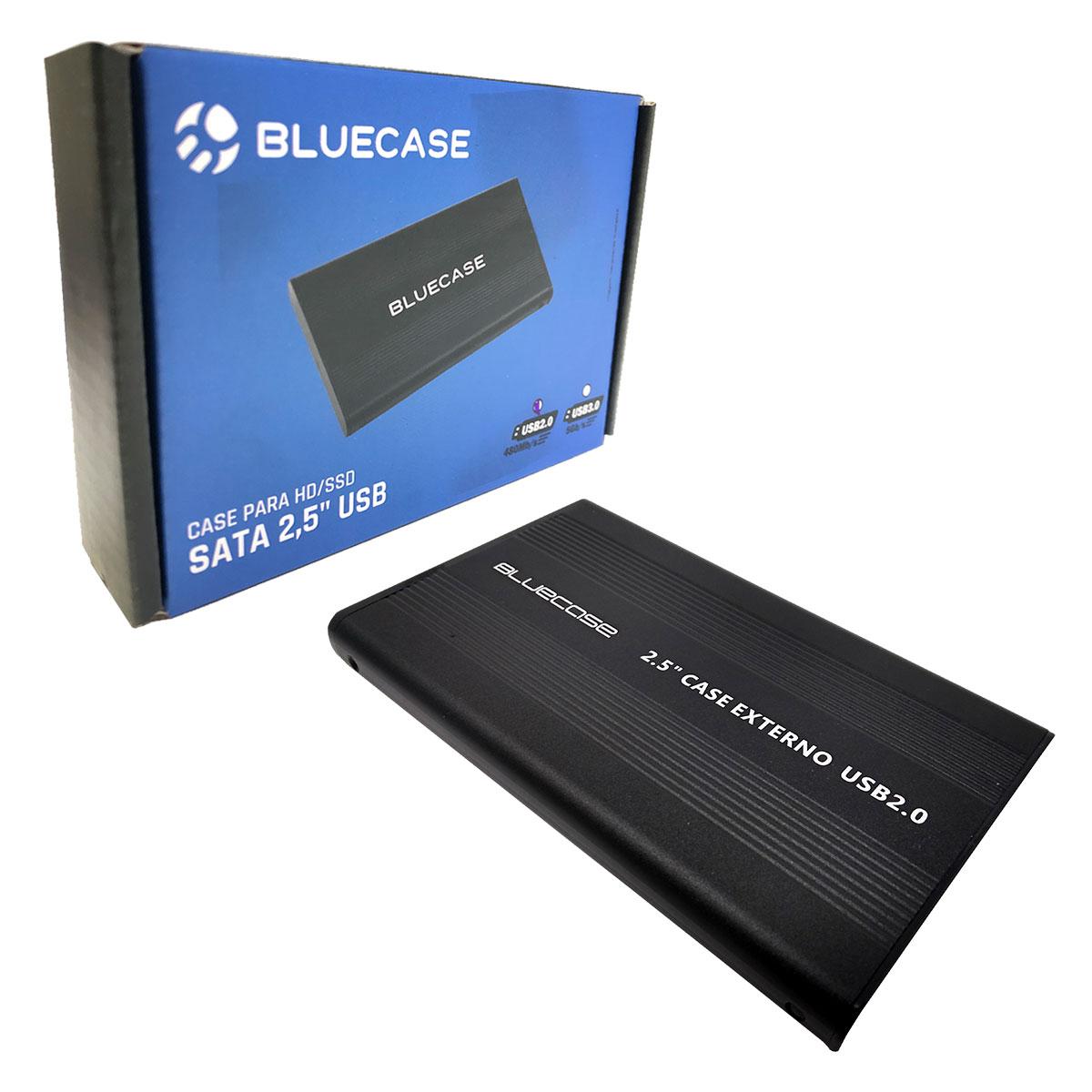 "Gaveta para HD/SSD 2.5"" Bluecase BCSU202, USB 2.0, Preto"