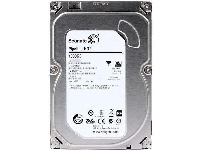 HD 1TB Seagate Sata III Pipeline 7200Rpm 64Mb ST1000VM002