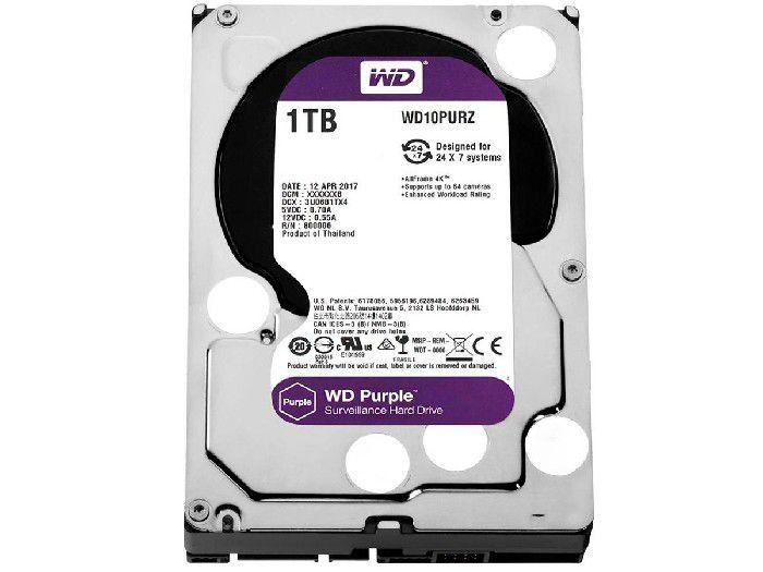 HD 1TB Western Digital Purple - WD10PURZ