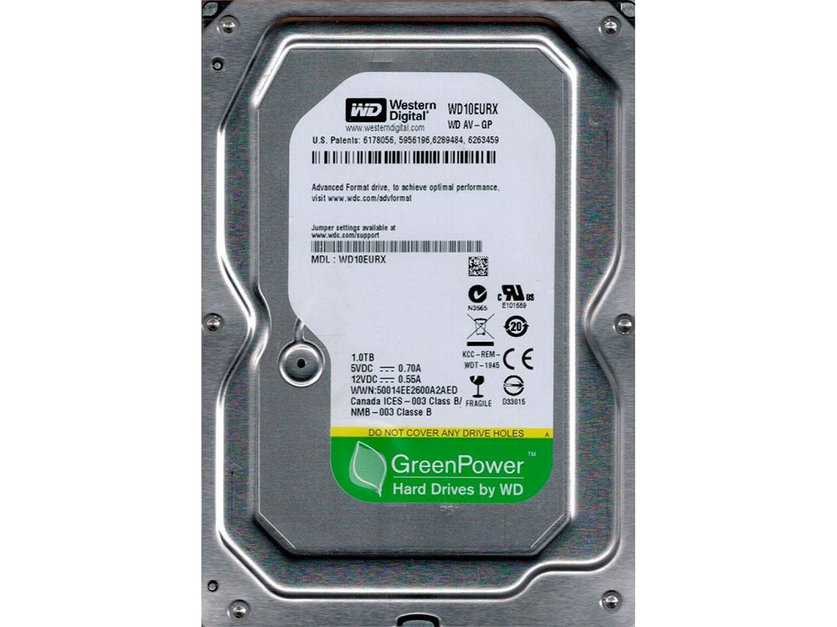 HD 1TB Western Digital WD10EURX AV-GP Sata III 7200RPM 64MB Cache OEM