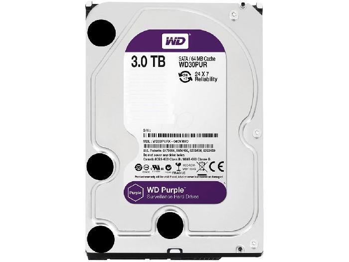 HD 3TB Western Digital Purple Sata III WD30PUR
