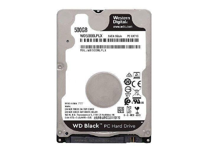 HD 500GB Western Digital WD Black 2,5 Notebook 7200 RPM WD500LPLX