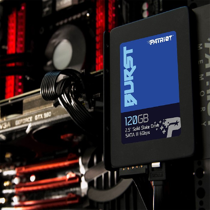 "HD SSD 120GB Patriot Burst 2,5"" Sata III 6Gb/s Leitura 560 MB/s, Grav. 540 MB/s PE000541"