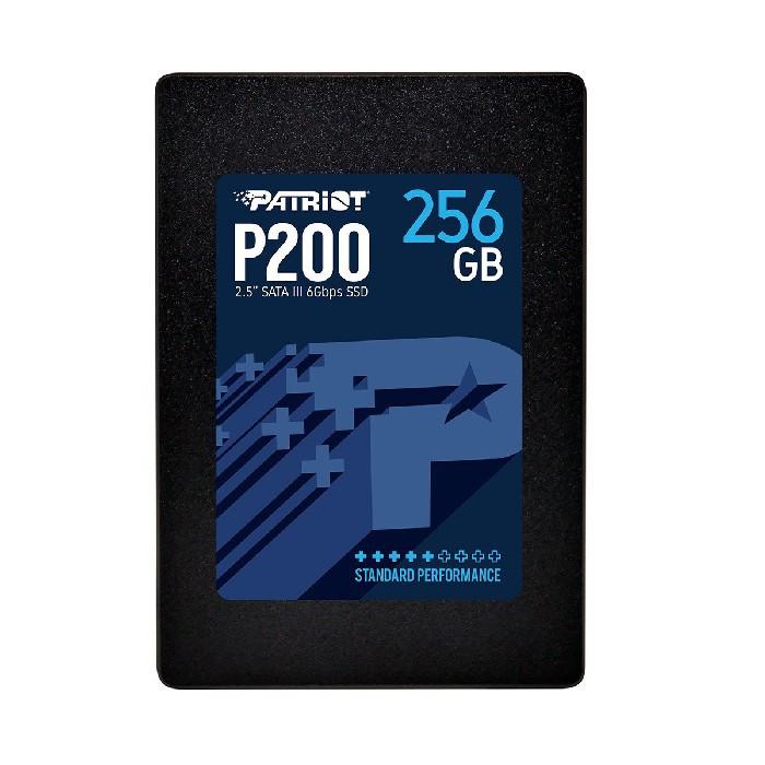 """HD SSD 256GB Patriot P200 Sata III 6Gb/s 2,5"""" Leitura Até 530 MB/s, Grav. Até 460 MB/s P200S256G25C"""