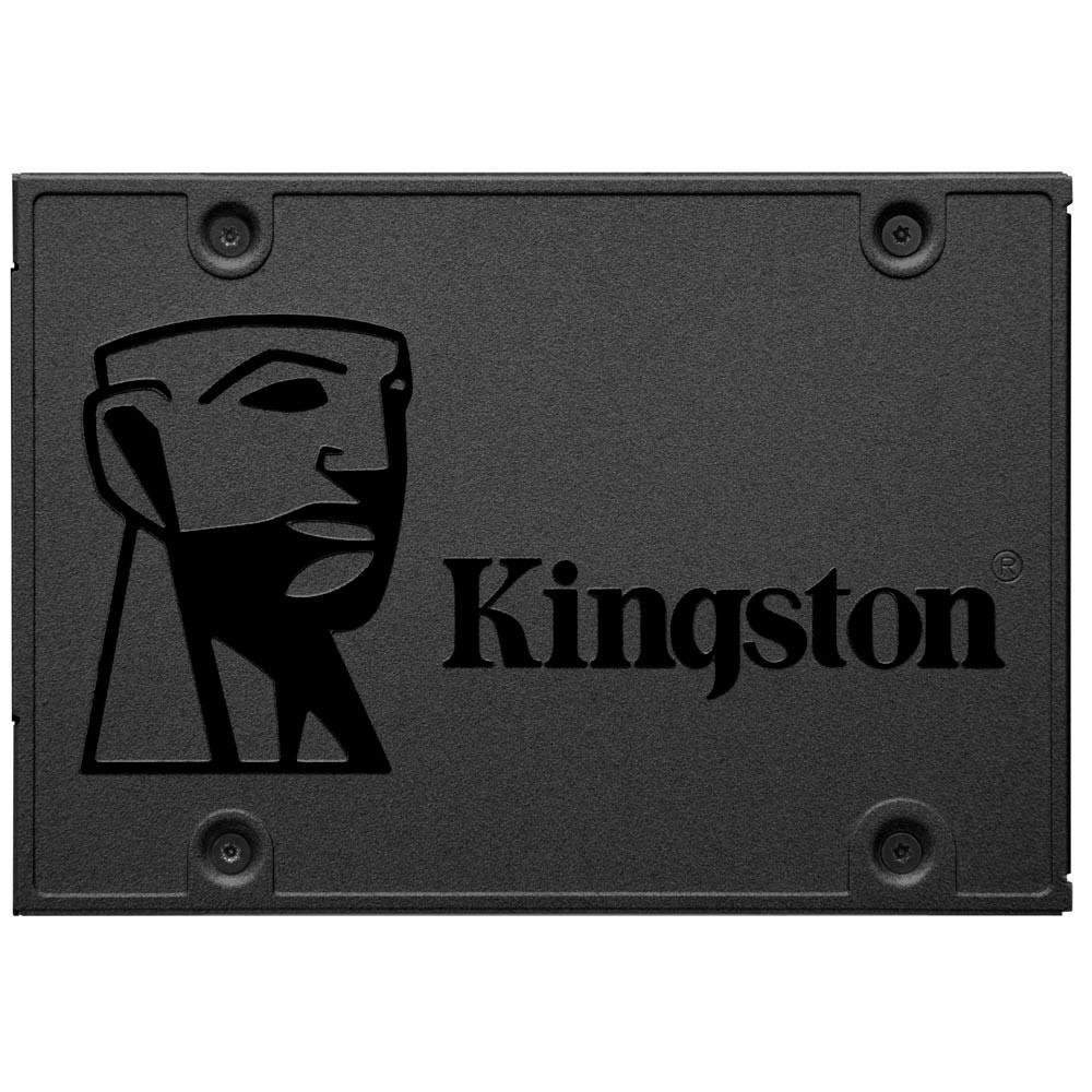 "HD SSD 480GB Kingston A400, Leitura 500MB/s, Gravação 450MB/s, Sata III 6Gb/s, 2.5"" - SA400S37/480GB"