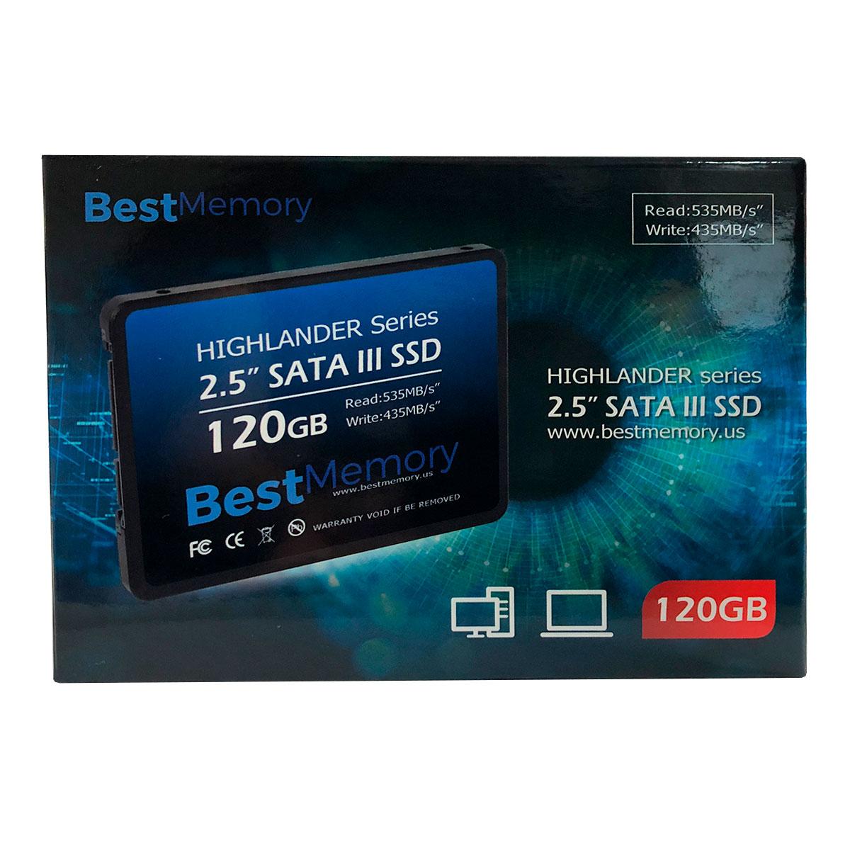 HD SSD Best Memory Highlander Series 120GB, Sata III 6Gb/s, 2.5 inch - BTSDA-120G-535