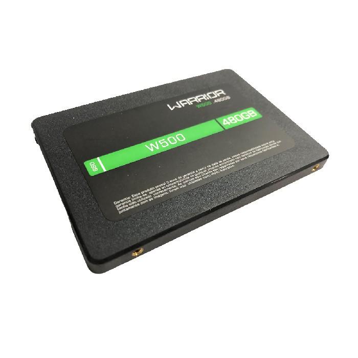 HD SSD Gamer 480GB Multilaser Warrior W500 SS410 Sata III 6GB/s, Leitura 540MB/s, Gravação 500MB/s