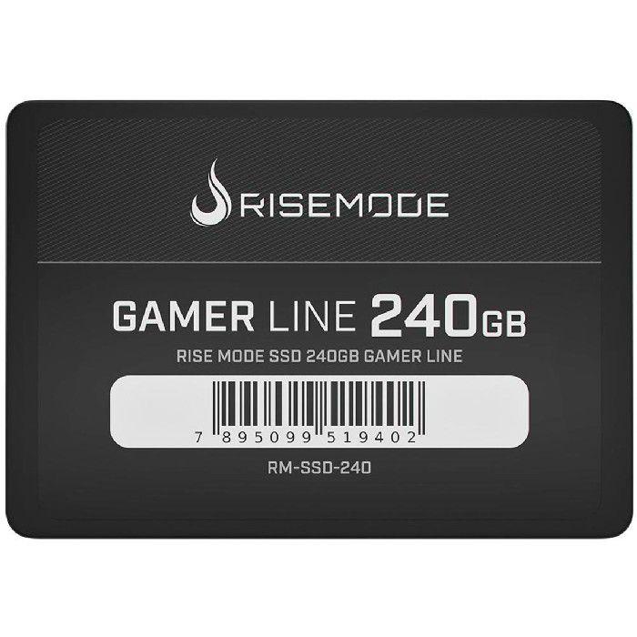 HD SSD Rise Mode Gamer Line 240GB Leitura 535MB/s Gravação 435MB/s - RM-SSD-240GB