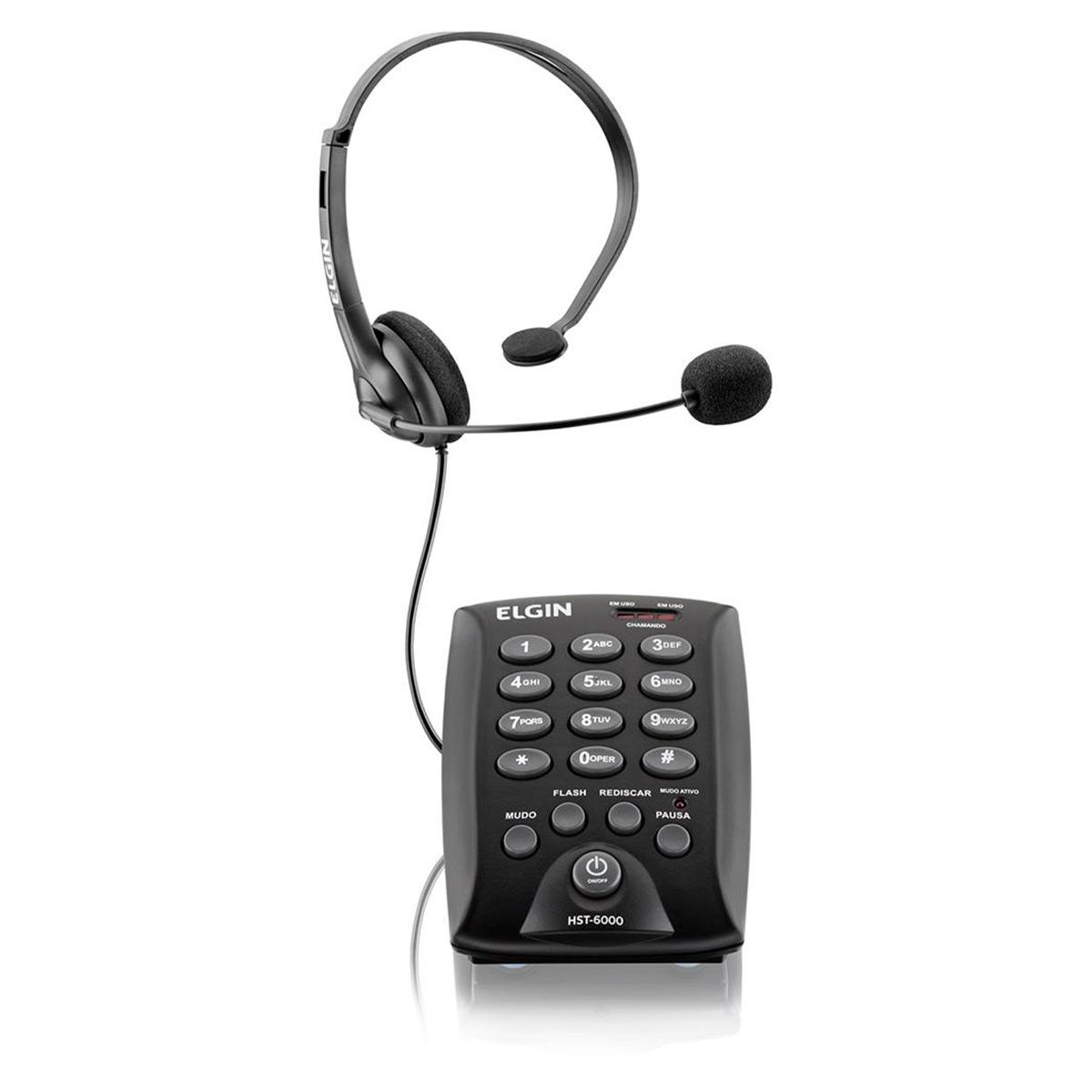 Headset Elgin HST-6000 Fone e Microfone - 42HST6000000