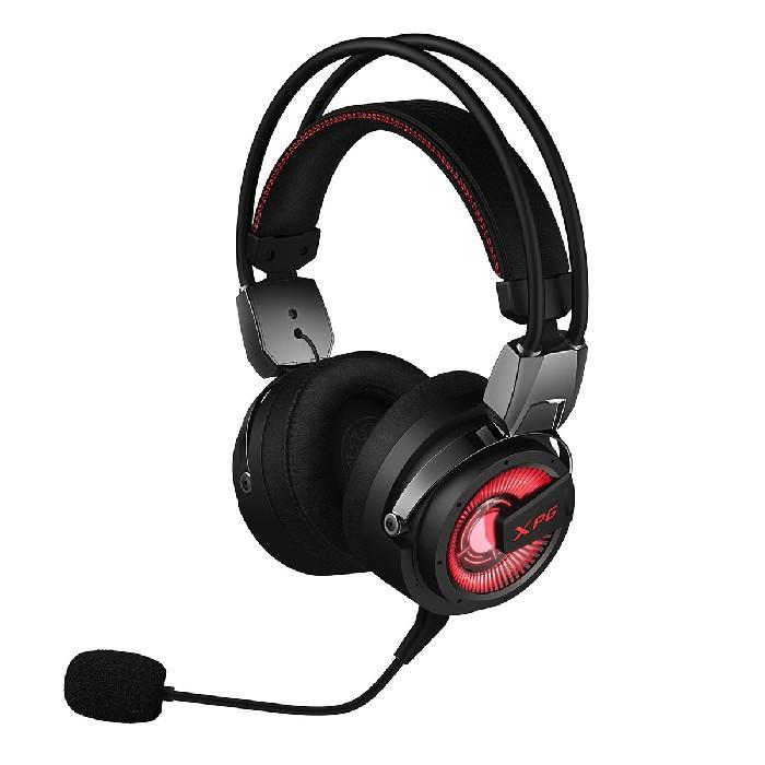 Headset Gamer ADATA XPG PRECOG 7.1 USB Type-C, FPS Mode, ENC, Preto/Led Vermelho