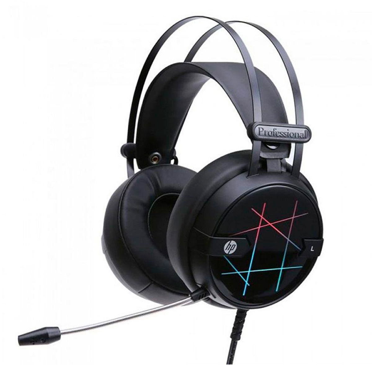 Headset Gamer HP H160G Stereo Driver 40mm USB LED Preto