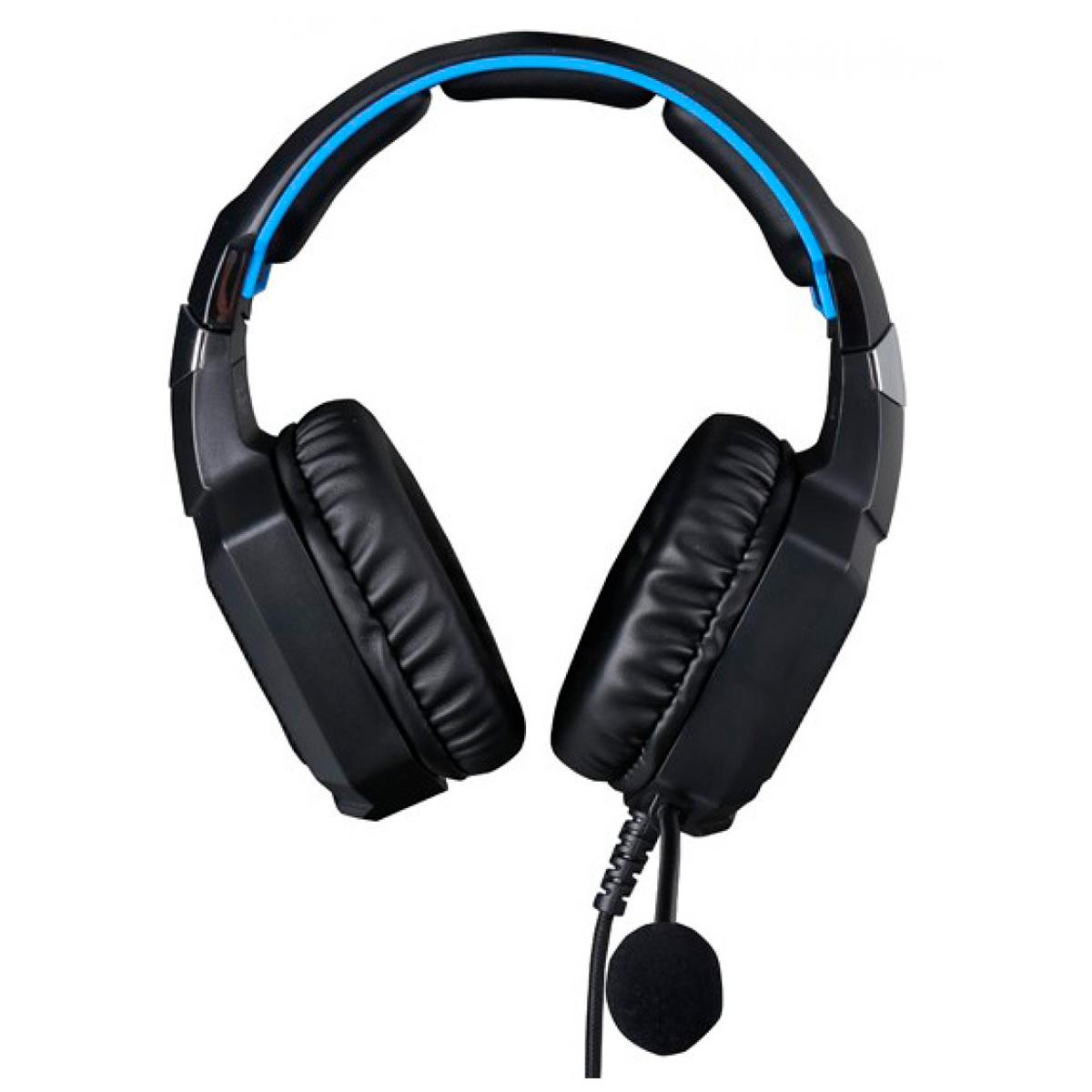 Headset Gamer HP H320 Stereo P2 3.5mm + USB Driver 50mm LED