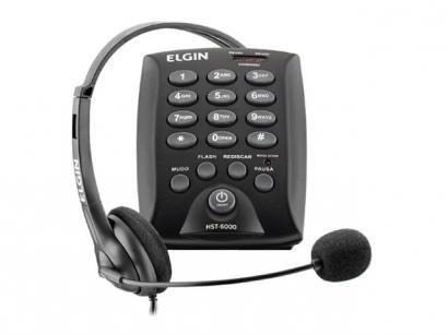 Headset Telefone ELGIN  HST6000 C/FONE+MIC/S.EXT/S.GRAV